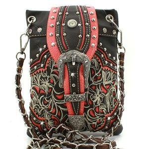 Handbags - Orange and brown buckle hipster messenger bag